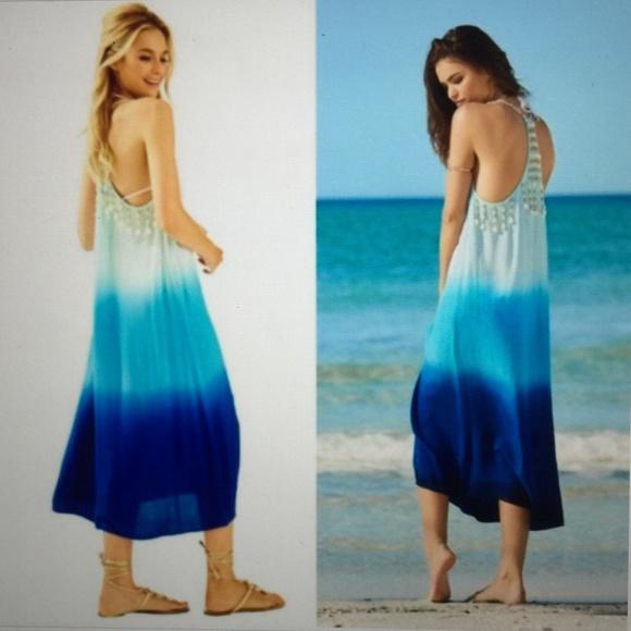 4772dc294a Lilly Pulitzer Dresses | Kenli Midi Coverup Indigo Ombr Xs | Poshmark